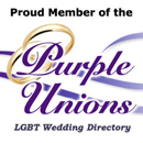 Proud Member of the PURPLE UNIONS LGBT Wedding Directory